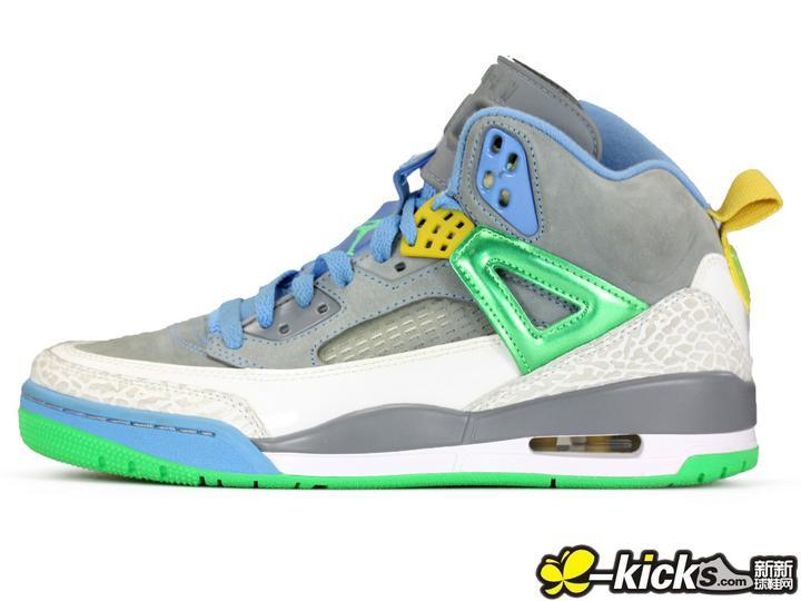 2015 Air Jordan 3.5 Grey Blue Green Yellow Shoes