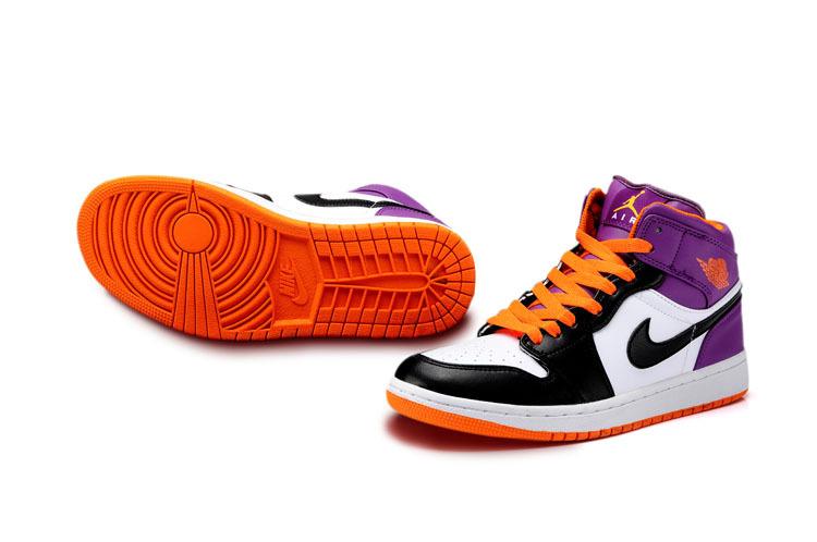 Limited New Jordan 1 White Light Orange Black Shoes
