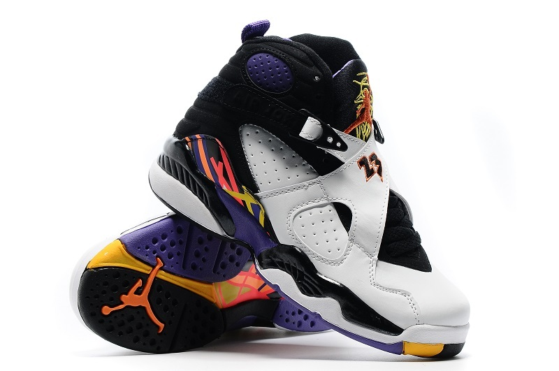 sneakers for cheap dba2c 3d6e5 2016 Air Jordan 8 Retro White Black Yellow Shoes For Women