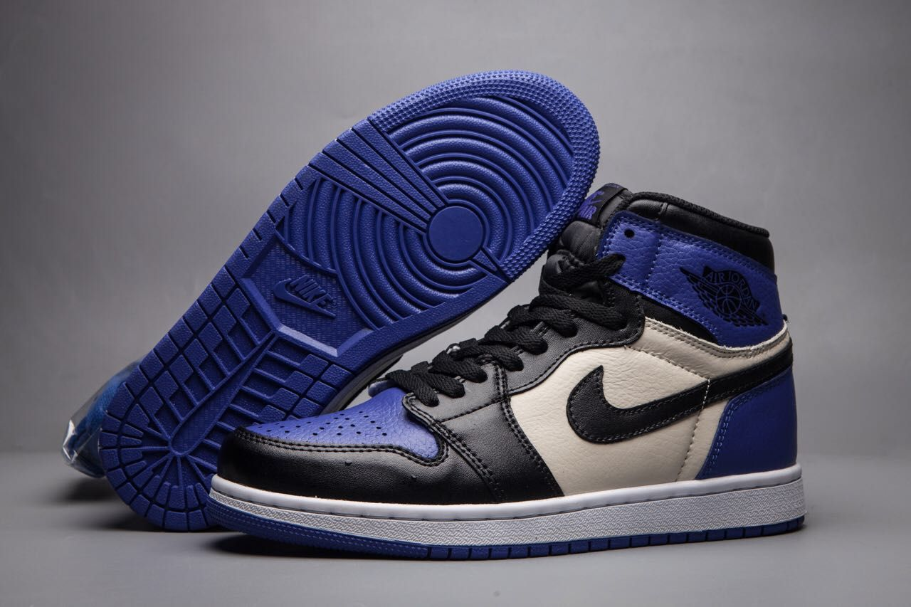 Men Air Jordan 1 Retro To Blue Black Shoes
