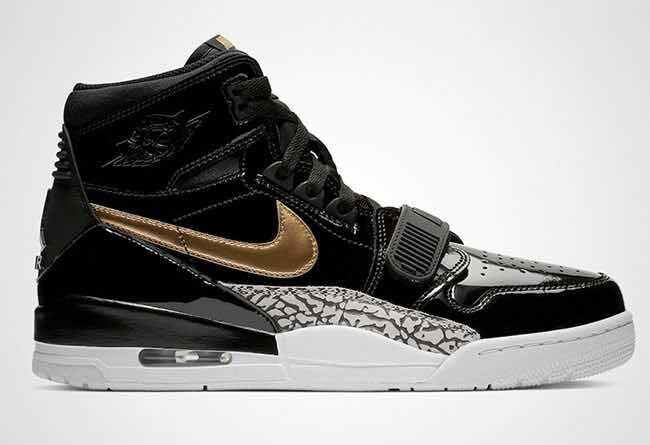 Air Jordan Legacy 312 Patent Leather Black Gold