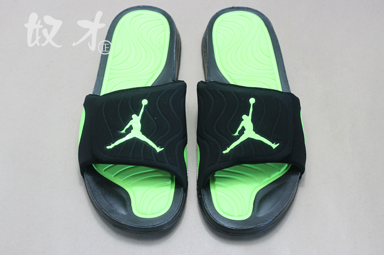 2016 Air Jordan Hydro 5 Slide Sandals Black Green