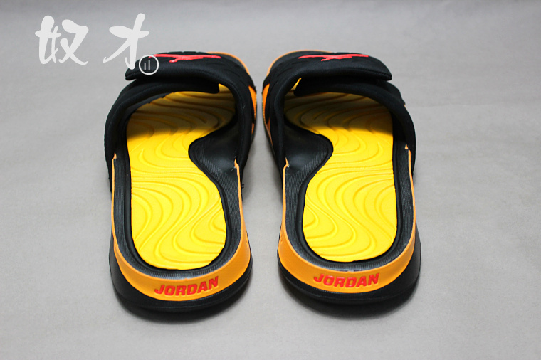 2016 Air Jordan Hydro 5 Slide Sandals Black Yellow Red