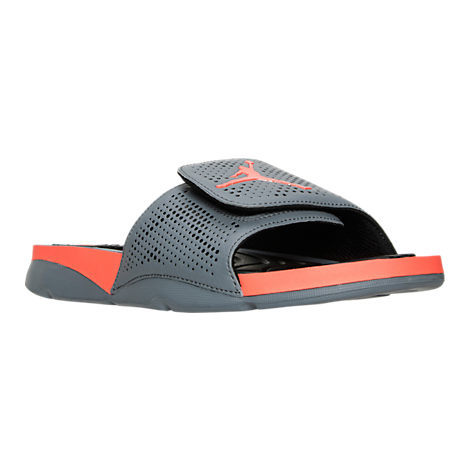 2016 Air Jordan Hydro 5 Slide Sandals Grey Black Orange