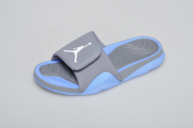 2016 Air Jordan Hydro 5 Slide Sandals Grey Blue White
