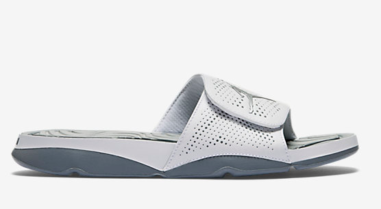 2016 Air Jordan Hydro 5 Slide Sandals Grey White