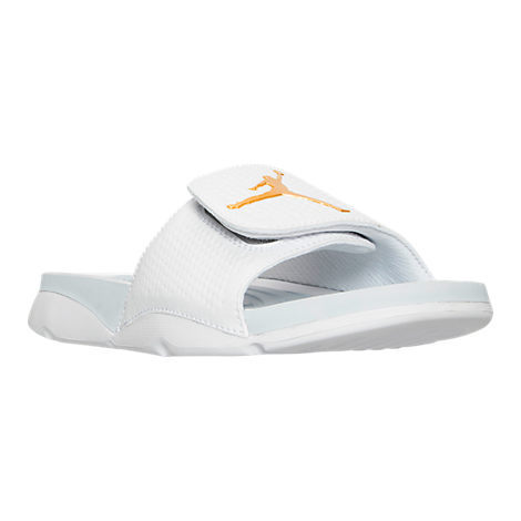 2016 Air Jordan Hydro 5 Slide Sandals White Gold