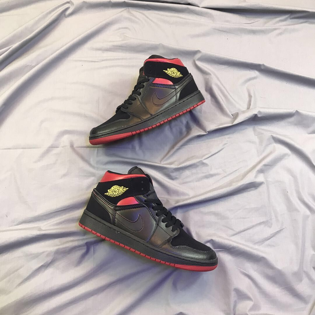 New Air Jordan 1 Final Shot Black Red Yellow Shoes