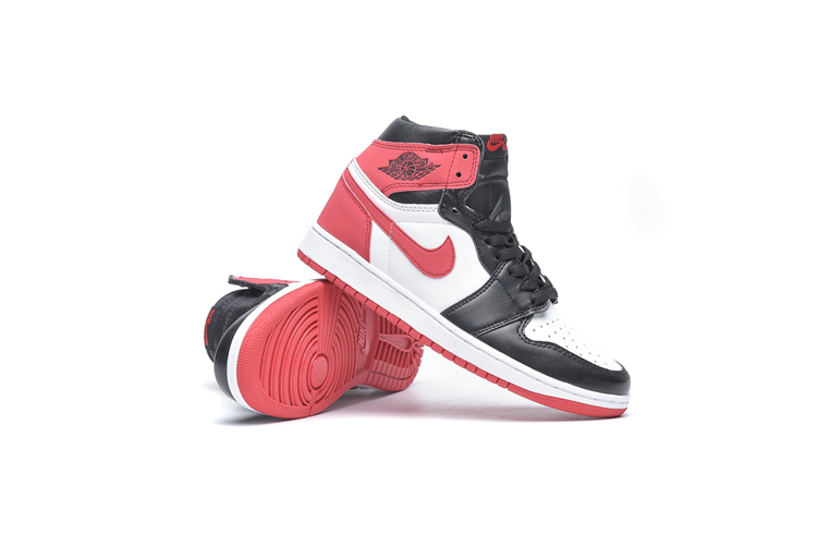 New Air Jordan 1 Sky Black White Red Shoes