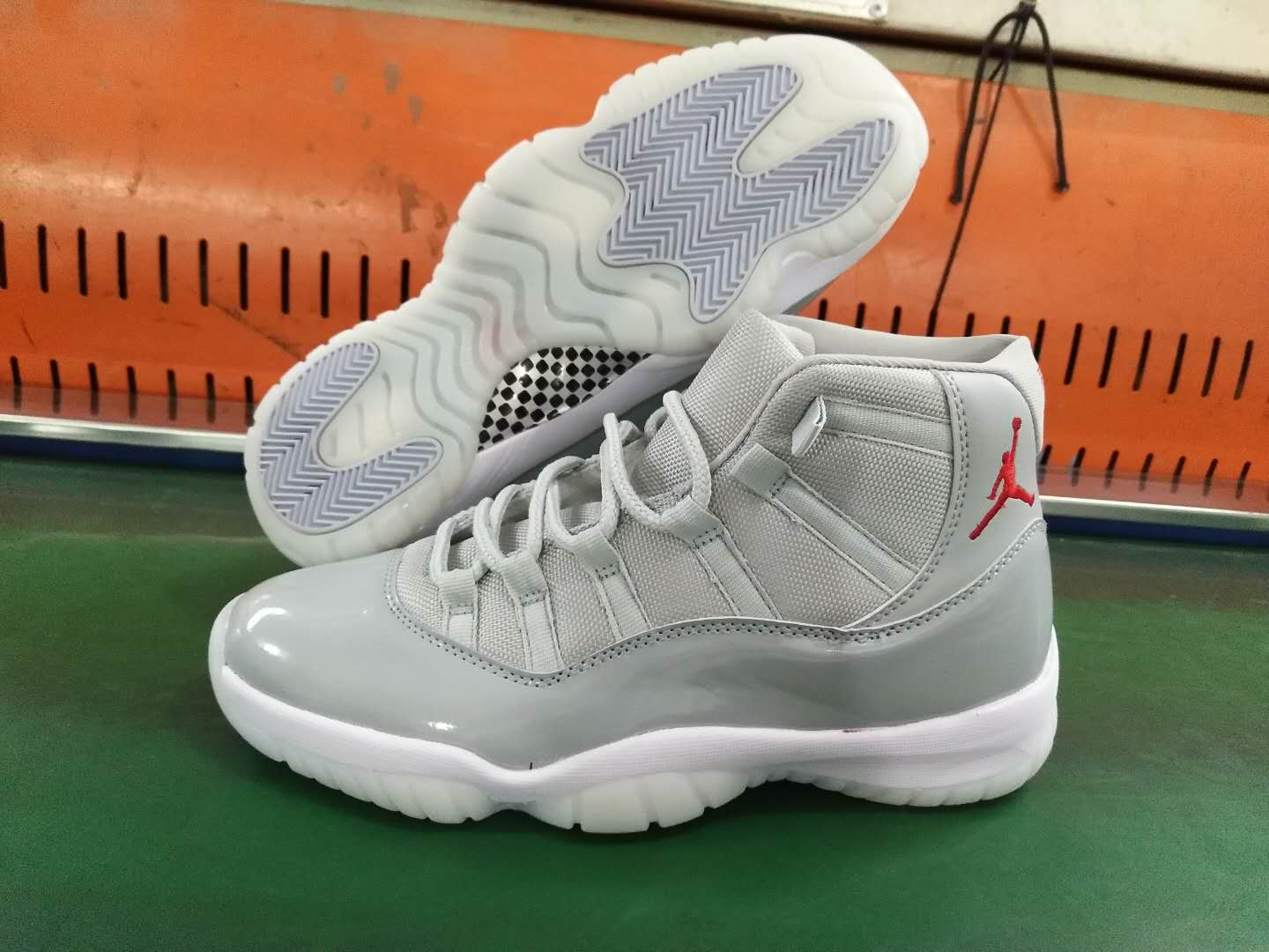 New Air Jordan 11 Grey White Red Shoes