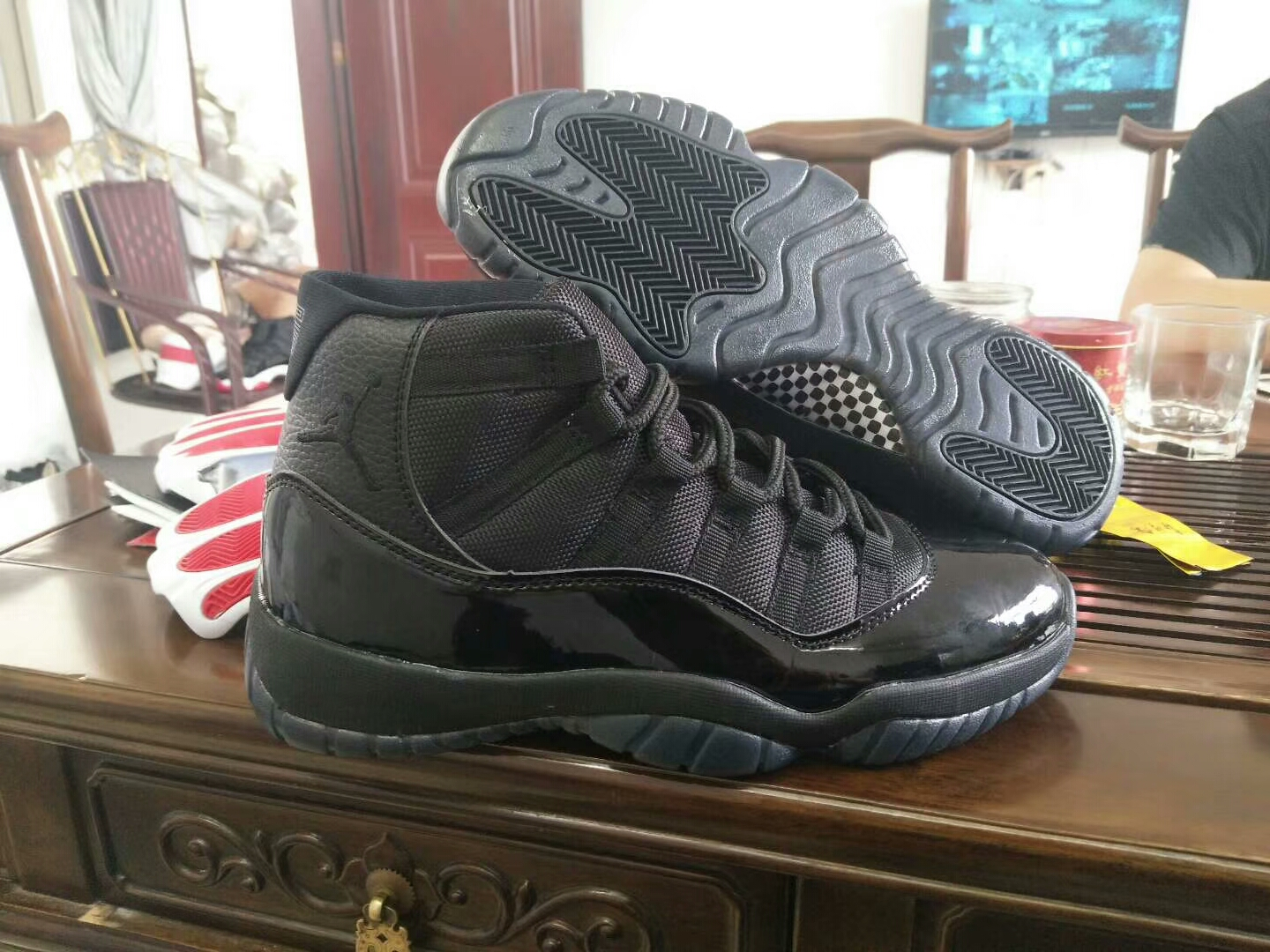 New Air Jordan 11 Retro All Black Shoes