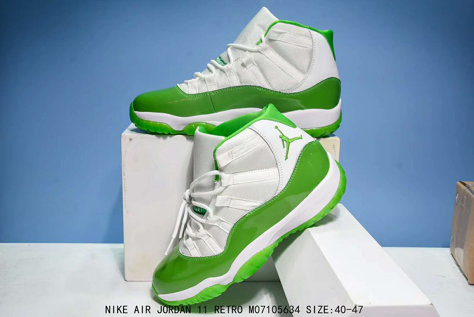 New Air Jordan 11 Retro Apple Green Shoes