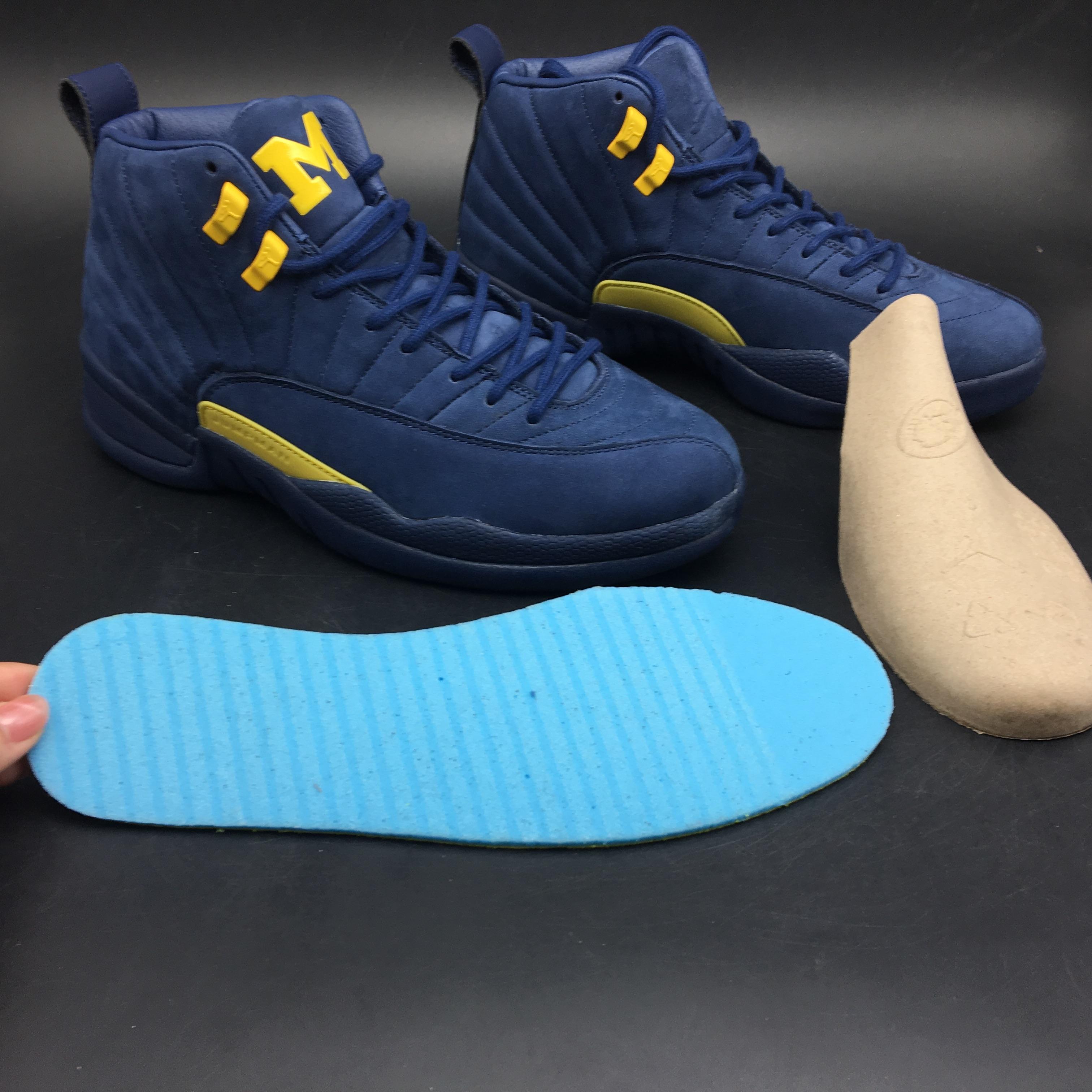 huge discount 2f1fb e1a58 New Air Jordan 12 Michigan Blue Yellow Shoes [18retro7505 ...