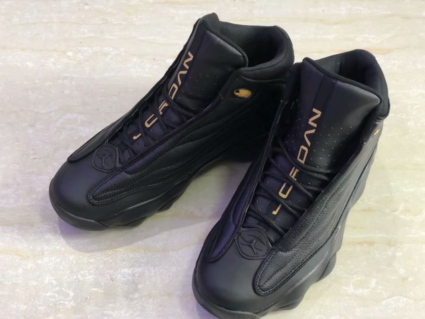 New Air Jordan 13.5 All Black Shoes