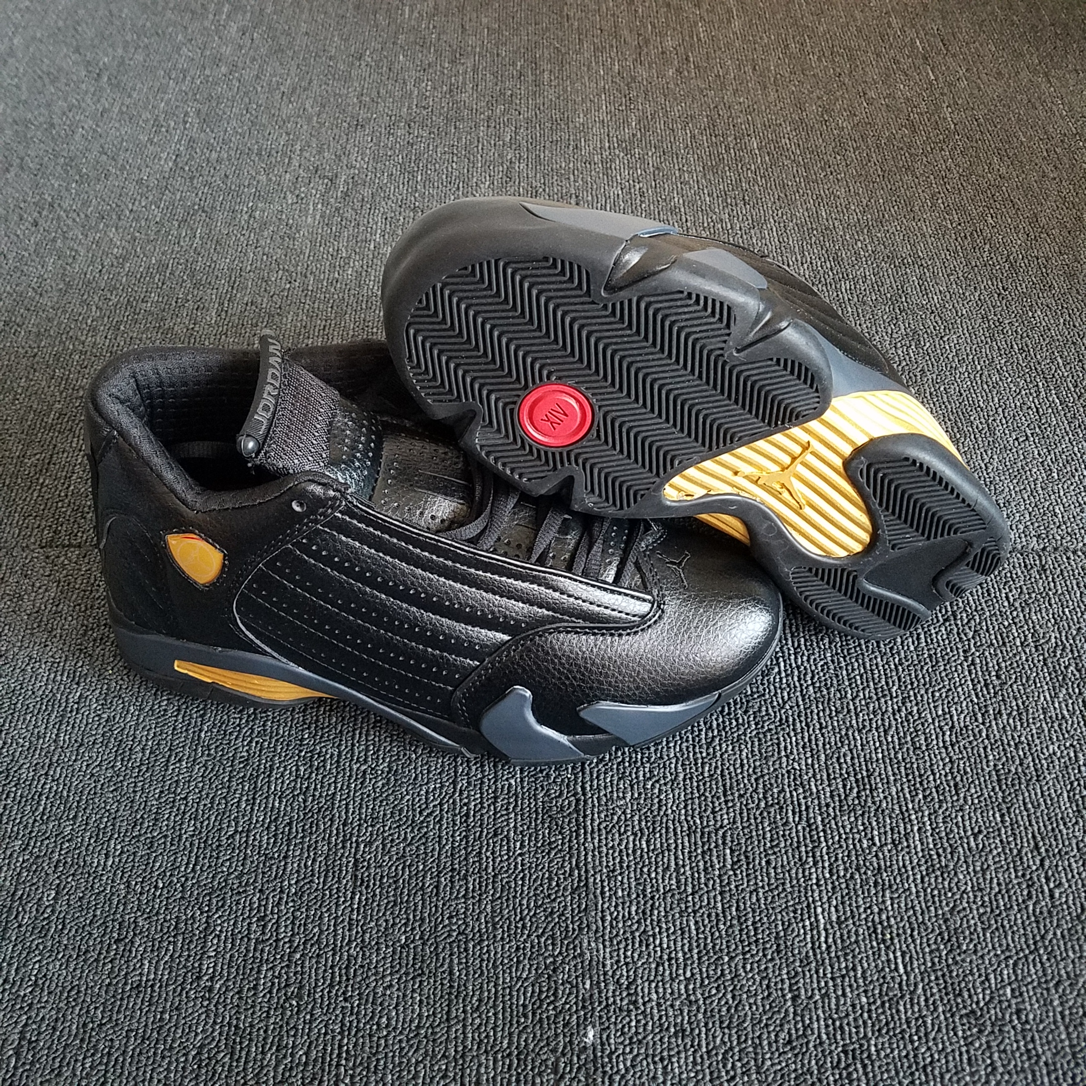 New Air Jordan 14 Retro Black Gold Shoes