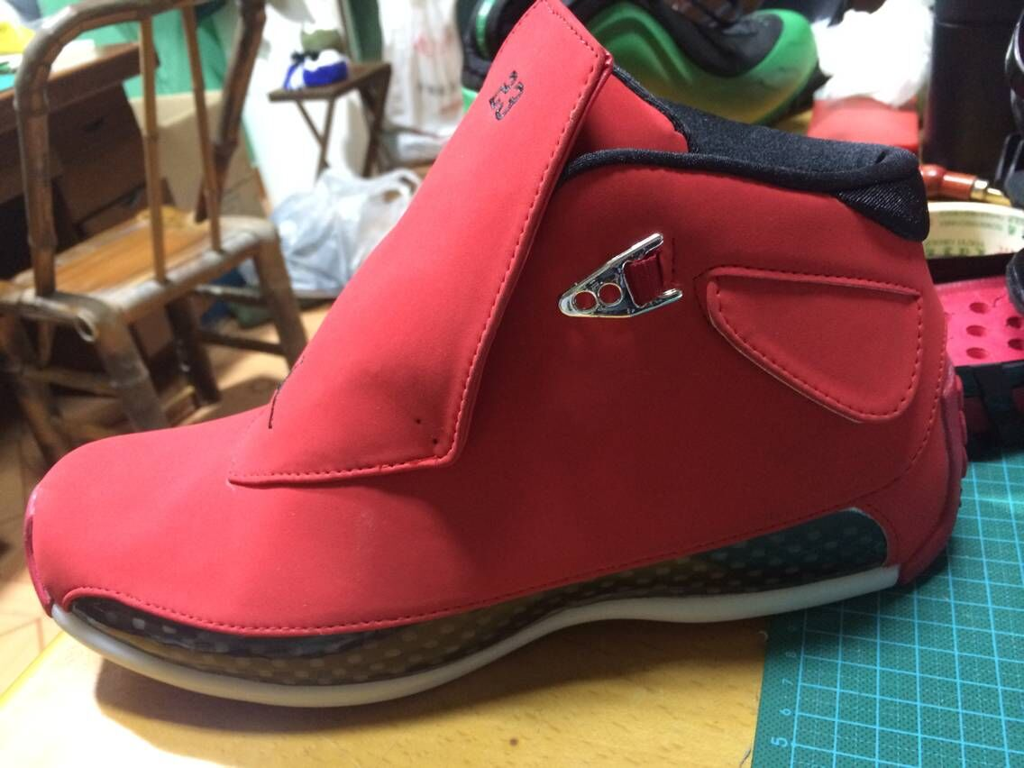 New Air Jordan 18 Retro All Red Shoes