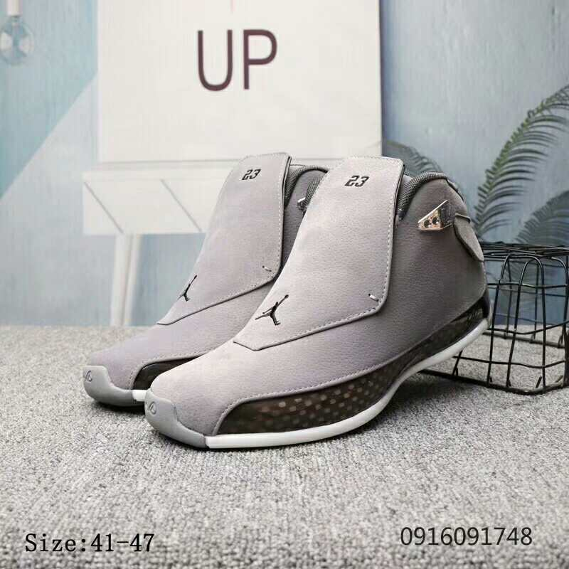 New Air Jordan 18 Wolf Grey Shoes