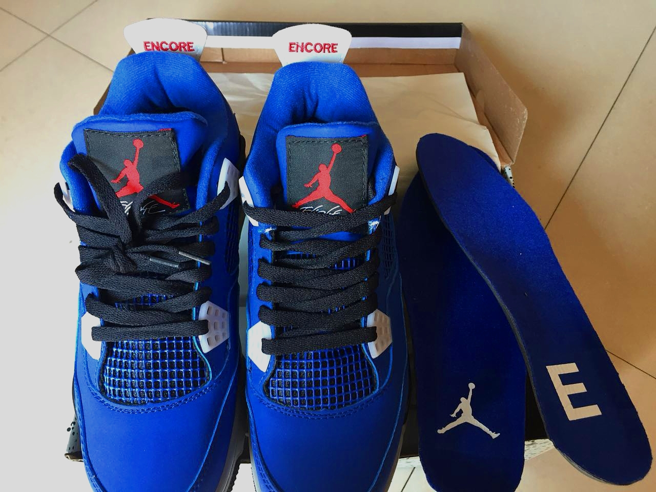 2018 Air Jordan 4 RETRO Eminem Royal Blue Black