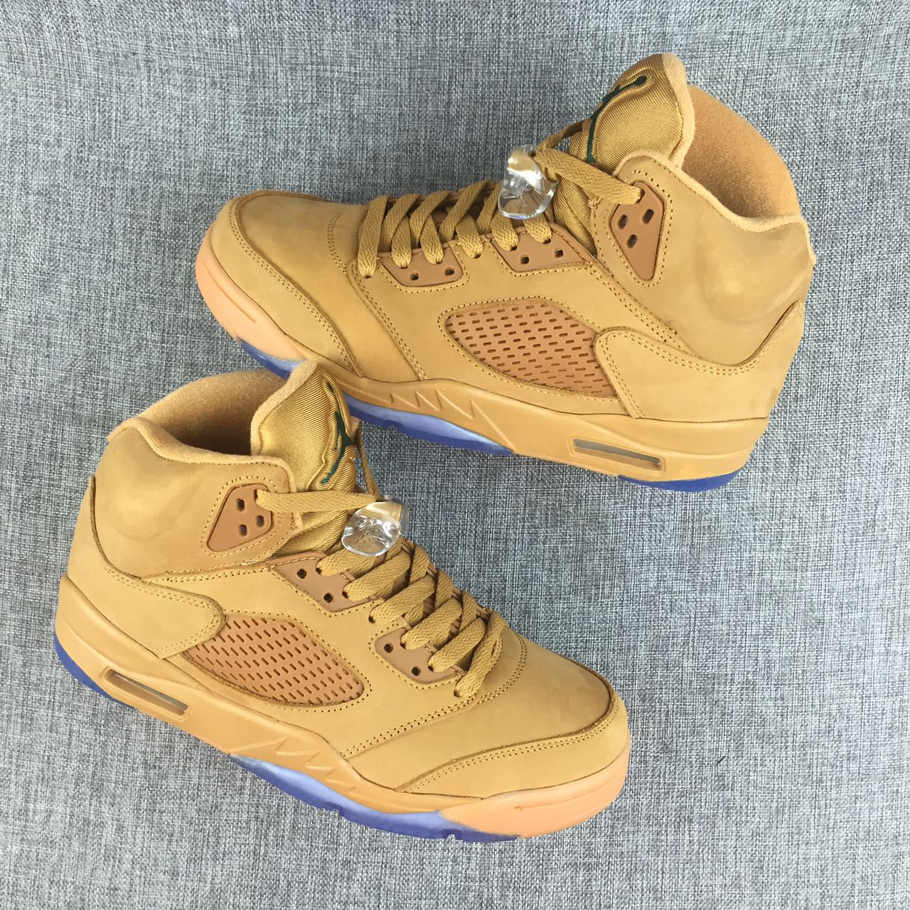 New Air Jordan 5 Wheat Yellow Shoes