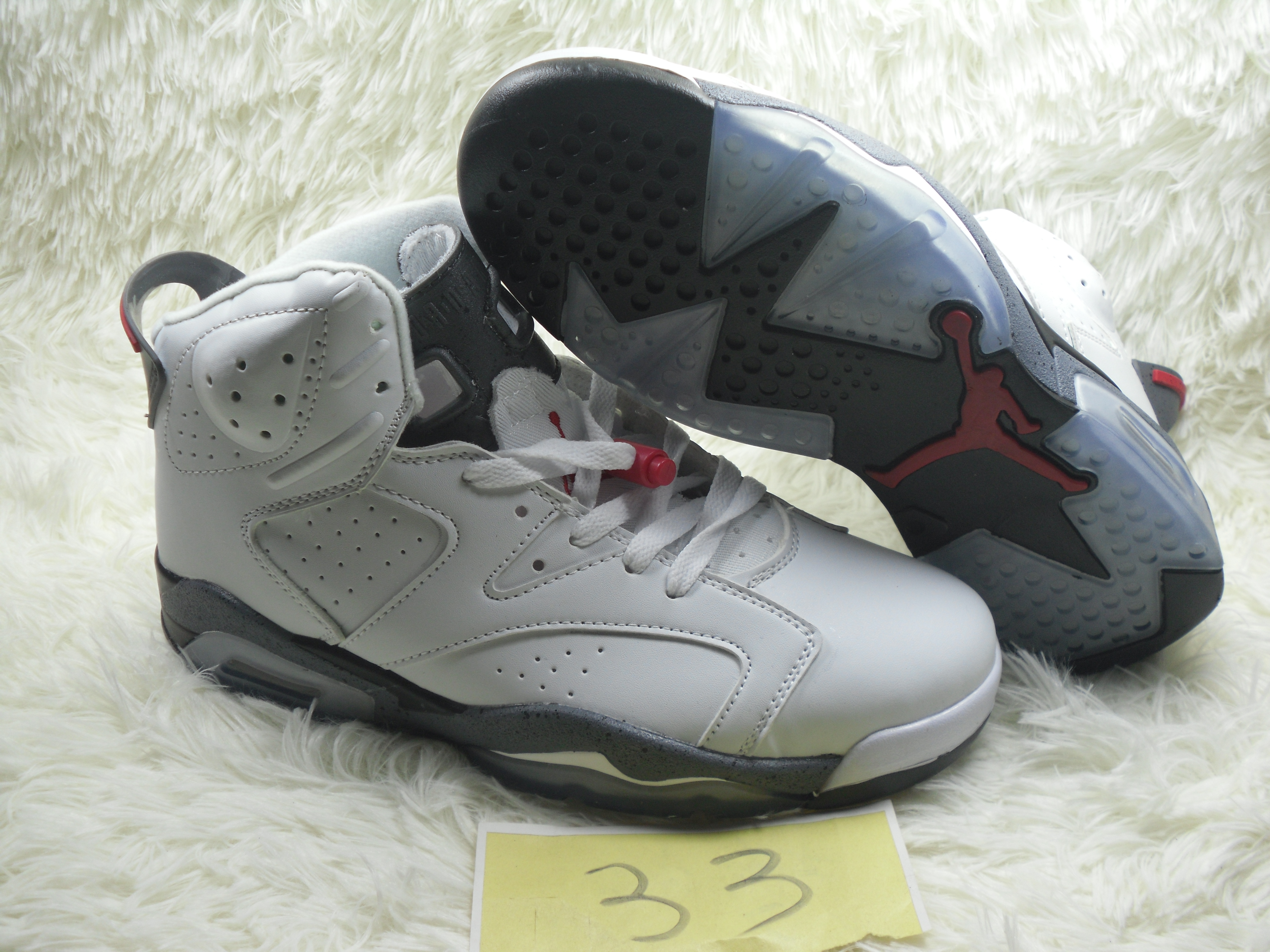 New Air Jordan 6 Retro White Grey Red