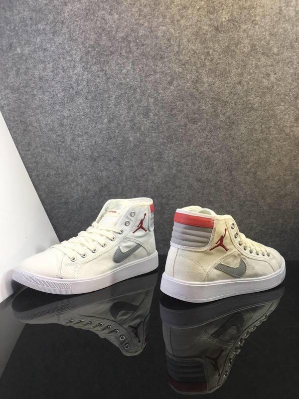 2016 Jordan 1 White Grey Red Shoes