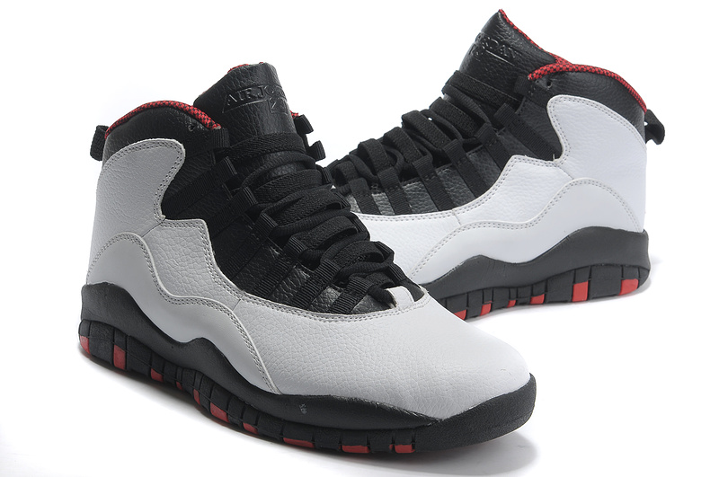 New Air Jordan 10 Shoes Black Grey Red