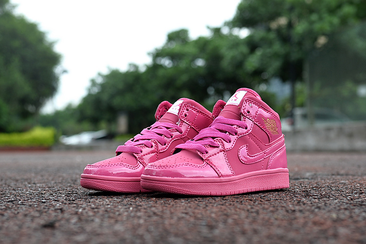 2016 Jordan 1 Retro All Pink Shoes For Kids