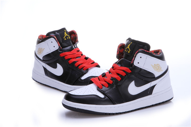 2015 New Jordans 1 Black White Red