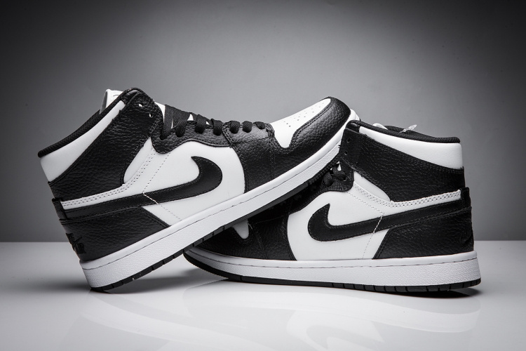 2017 Jordan 1 Disppearing Wing Black White Shoes