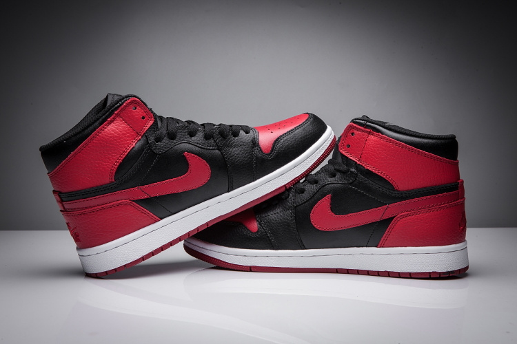 2017 Jordan 1 Disppearing Wing Red Black Shoes