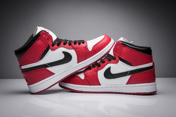 2017 Jordan 1 Disppearing Wing Red White Black Shoes
