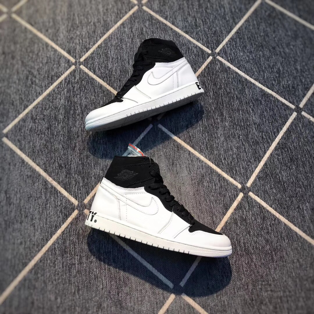 New Air Jordan 1 Equality White Black Shoes