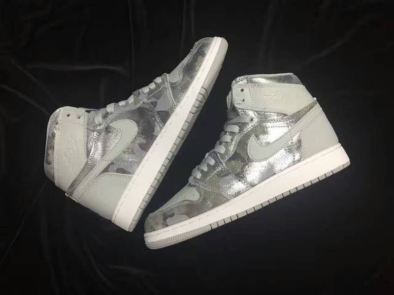 2016 Jordan 1 Retro GS All Star Silver Grey Shoes