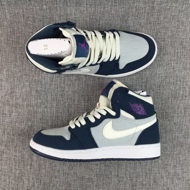 2017 Jordan 1 GS Deep Blue Purple White