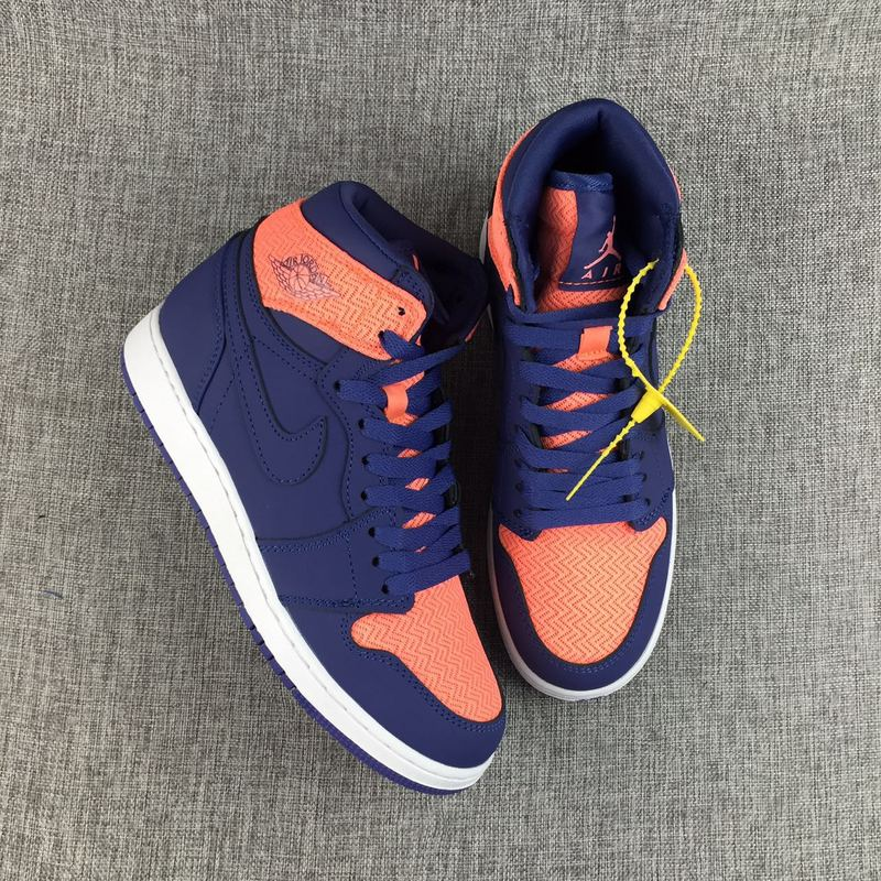 2017 Jordan 1 GS Orange Blue Shoes