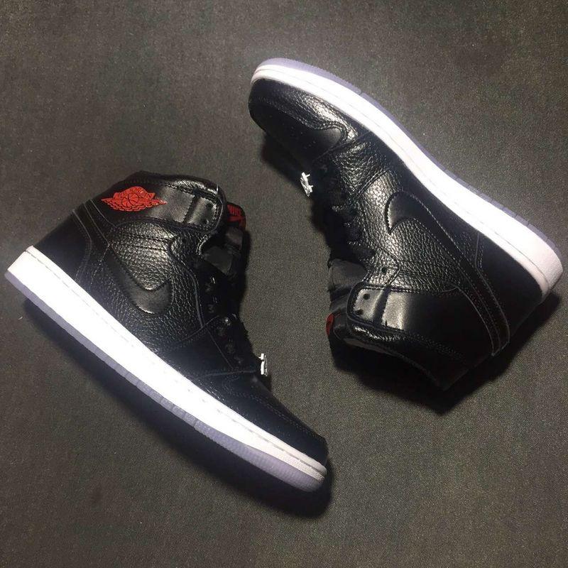 2016 Jordan 1 High All Black Red