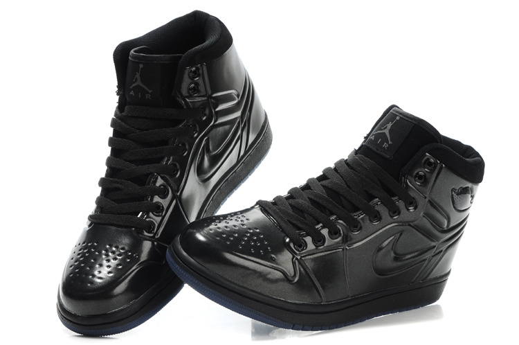 New Air Jordan 1 High Heel Shoes Black