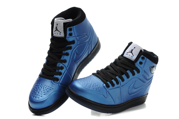 New Air Jordan 1 High Heel Shoes Blue Black