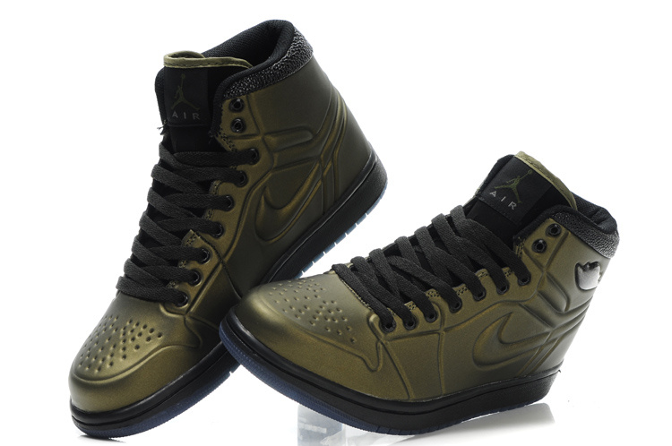 New Air Jordan 1 High Heel Shoes Brown Black