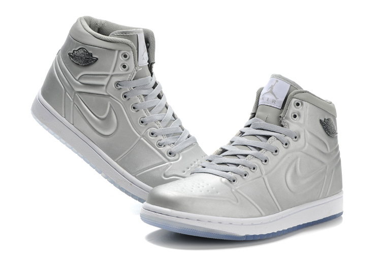 New Air Jordan 1 High Heel Shoes Grey