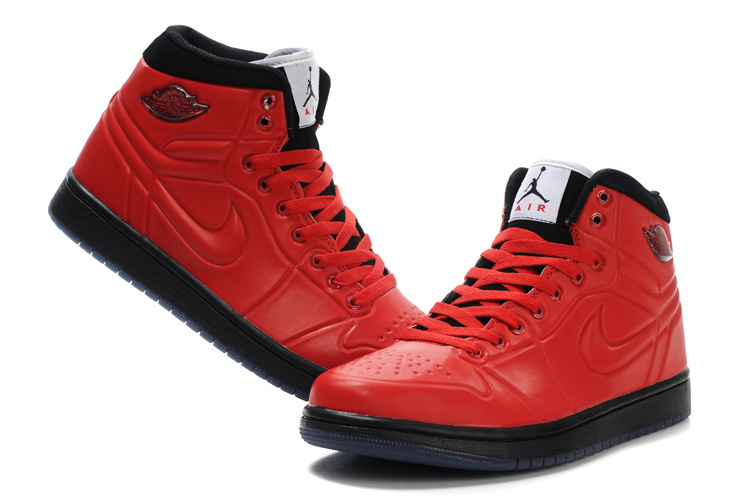 New Air Jordan 1 High Heel Shoes Red Black