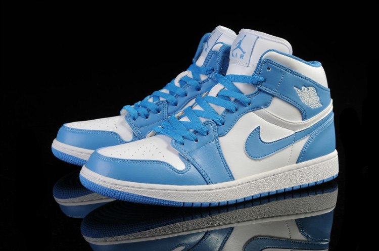 2015 New Light Blue White Air Jordans 1