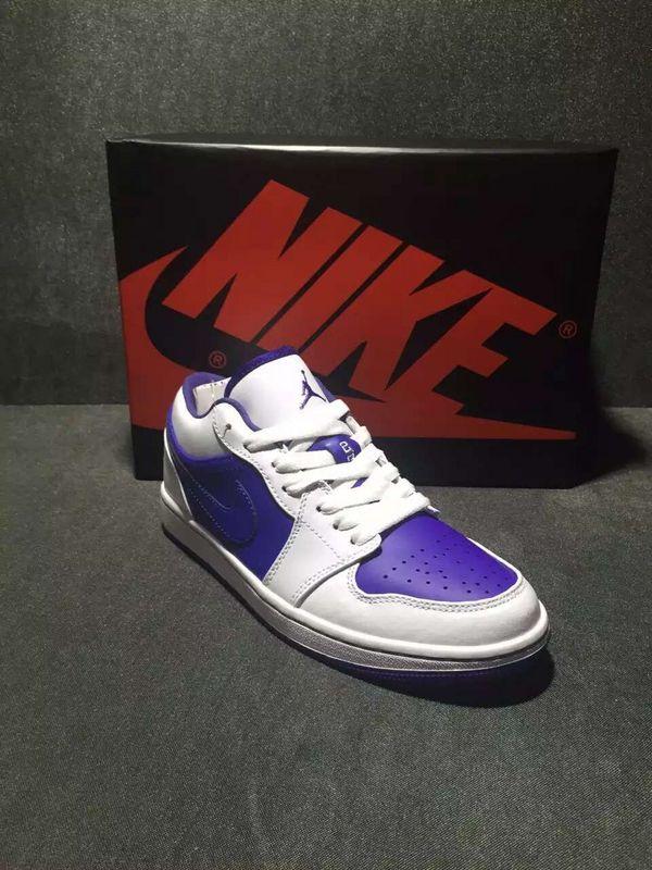 2016 Air Jordan 1 Low Reto White Purple