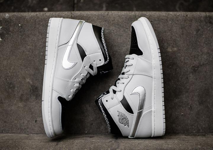 2016 Jordan 1 Mid Wolf Grey Shoes