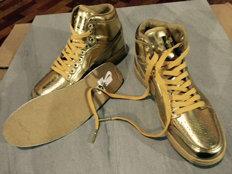 2016 Air Jordan 1 Retro All Gold