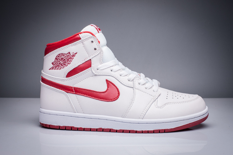 2016 Jordan 1 Retro White Red Shoes