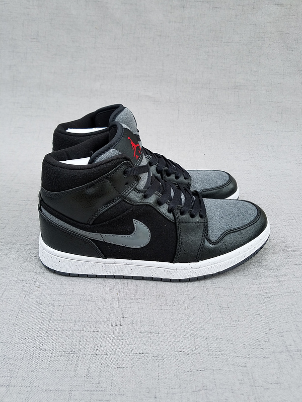 2017 Jordan 1 Retro Wool Black Grey Shoes