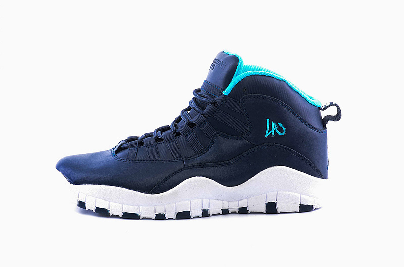 2016 Jordan 10 Retro Deep Blue White Shoes
