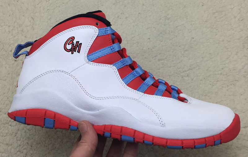 2016 Air Jordan 10 White Red Blue