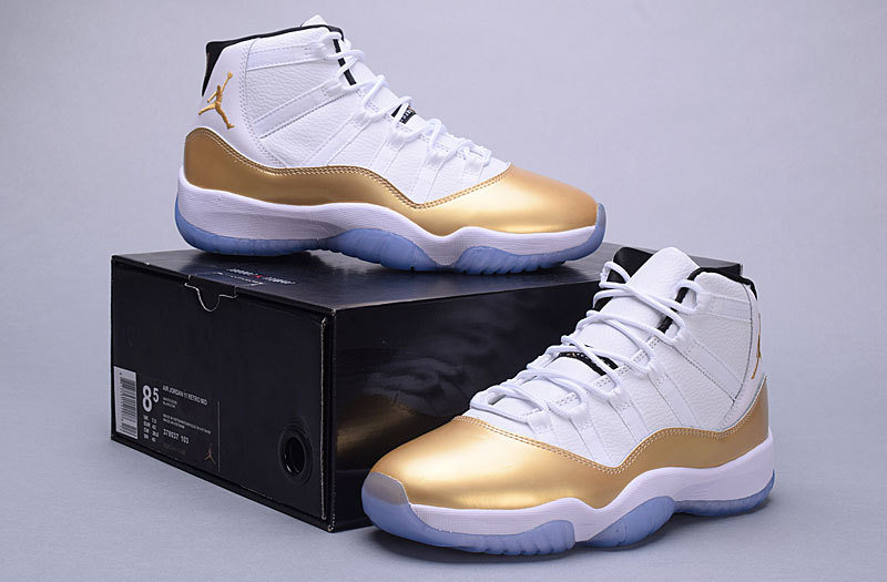 2016 Air Jordan 11 High White Gold Shoes